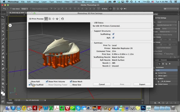 3D printing in Adobe Photoshop CC