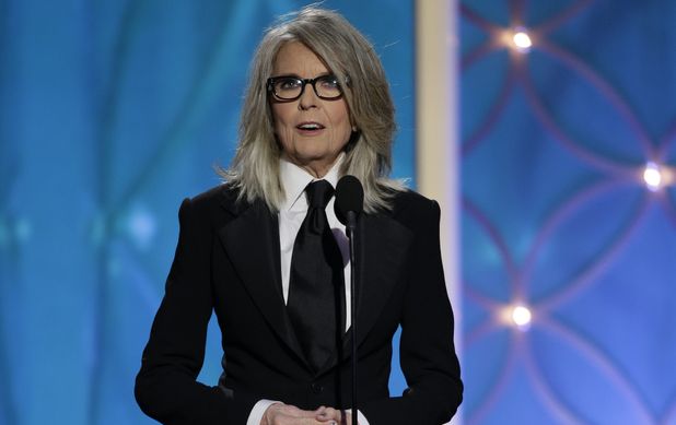 Diane Keaton speaks onstage at the Golden Globe Awards