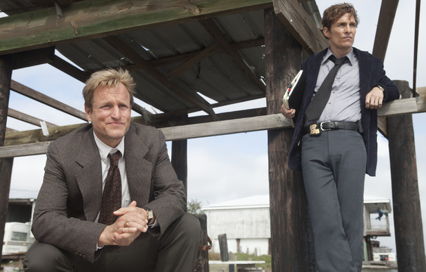 Woody Harrelson as Martin Hart & Matthew McConaughey as Rustin Cohle in True Detective