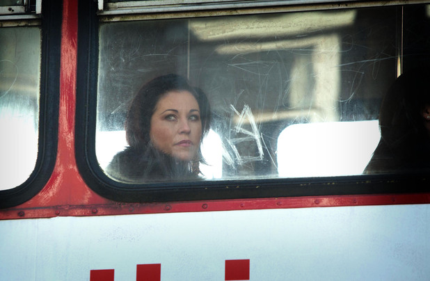 Kat sees Stacey while on a bus