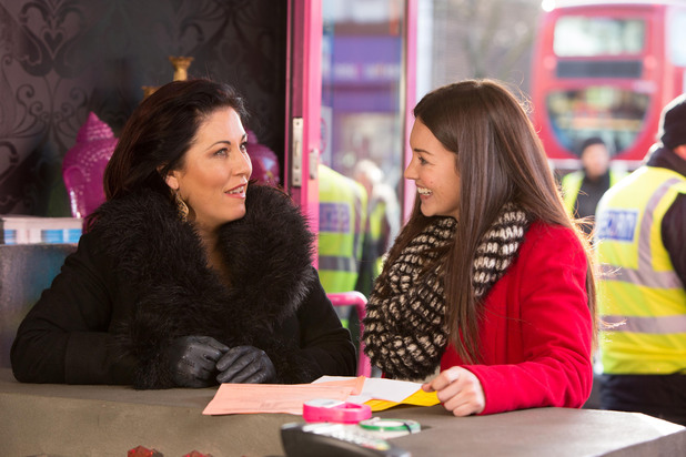 Jessie Wallace and Lacey Turner behind the scenes