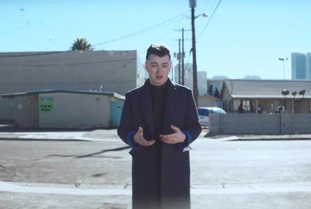 Sam Smith 'Money On My Mind' music video still.