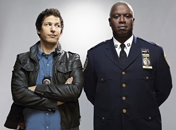 Andy Samberg as Detective Jake Peralta & Andre Braugher as Captain Ray Holt in Brooklyn Nine-Nine