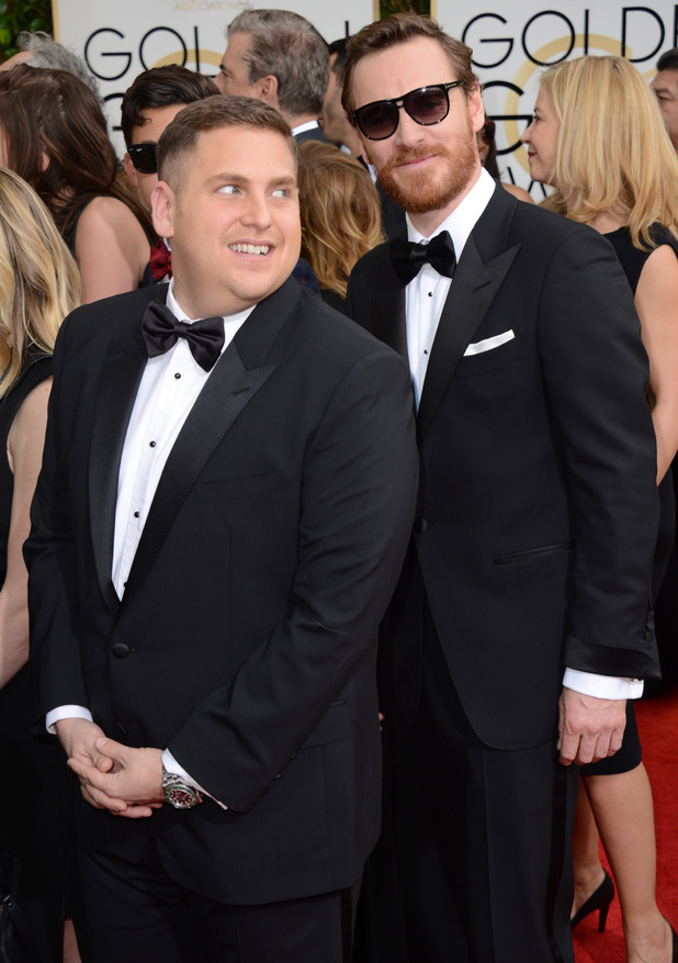 Jonah Hill and Michael Fassbender