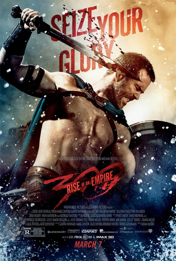 Sullivan Stapleton in new 300: Rise of an Empire poster.