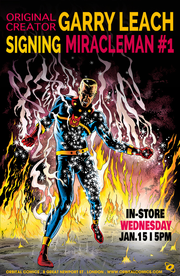 Garry Leach Miracleman #1 signing