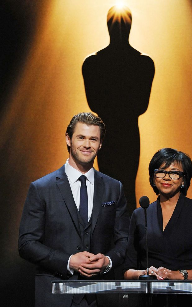 86th Academy Awards nominations announcement, Los Angeles, America - 16 Jan 2014Chris Hemsworth and Academy of Motion Picture Arts and Sciences President Cheryl Boone Isaacs