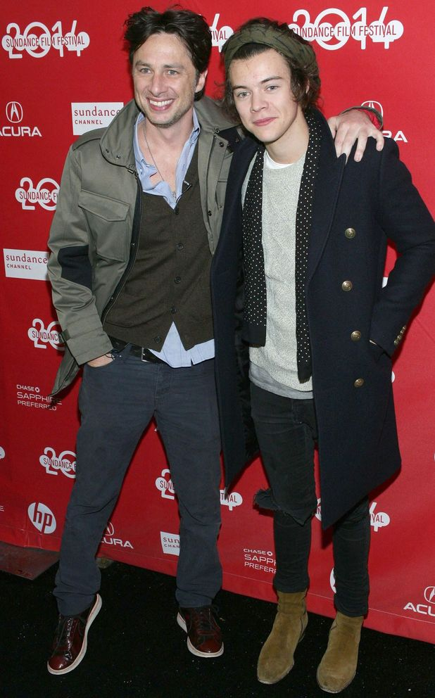 Zach Braff and Harry Styles