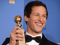 Andy Samberg cast with a Golden Globe award