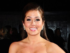 Nikki Sanderson arriving for the 2014 National Television Awards at the O2 Arena, London
