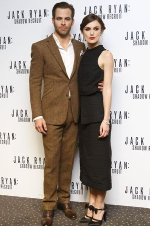 'Jack Ryan: Shadow Recruit' film premiere, London, Britain - 20 Jan 2014 Chris Pine and Keira Knightley