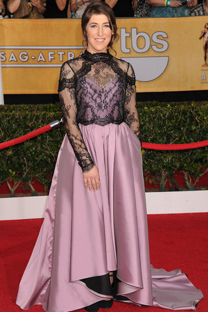 20th Annual Screen Actors Guild Awards, Arrivals, Los Angeles, America - 18 Jan 2014 Mayim Bialik