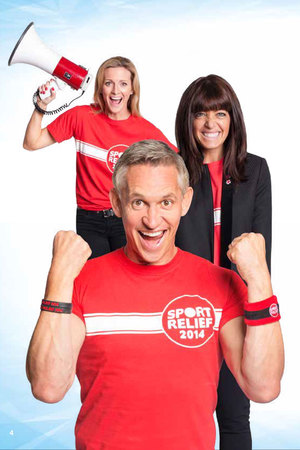 Gary Lineker, Gaby Logan and Claudia Winkleman for Sport Relief