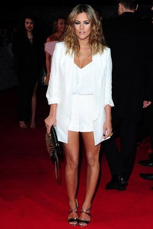 Caroline Flack arriving for the 2014 National Television Awards at the O2 Arena, London