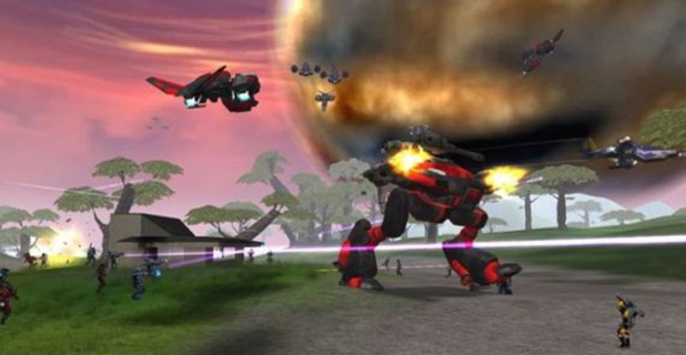Screenshot from the original PlanetSide