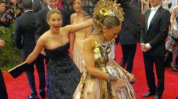 Jennifer Lawrence, Sarah Jessica Parker at the Met Ball 2013