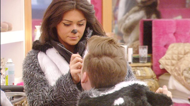 Casey Batchelor and Lee Ryan during the North Pole task