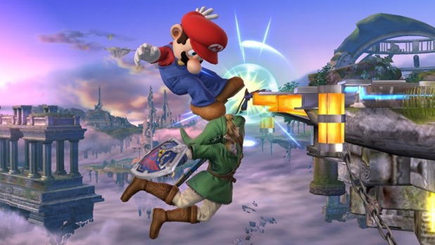 Super Smash Bros edge-hanging screenshot