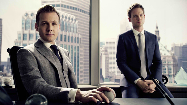 Gabriel Macht and Patrick J Adams in Suits
