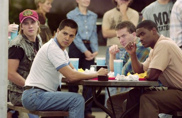 Lucas Black, Jay Hernandez, Garrett Hedlund and Lee Jackson in Friday Night Lights