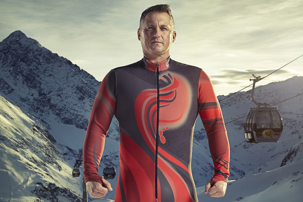 Darren Gough competes in The Jump