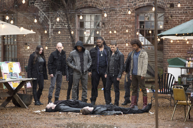 Charles Michael Davis as Marcel, Joseph Morgan as Klaus and Eka Darville as Diego in The Originals: 'Dance Back from the Grave'