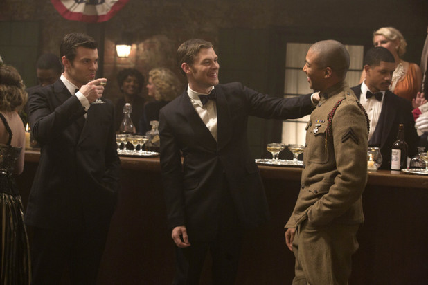 Daniel Gillies as Elijah, Joseph Morgan as Klaus and Charles Michael Davis as Marcel in The Originals: 'Dance Back from the Grave'