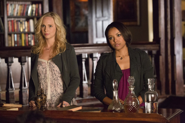 Candice Accola as Caroline and Kat Graham as Bonnie in The Vampire Diaries: '500 Years of Solitude'