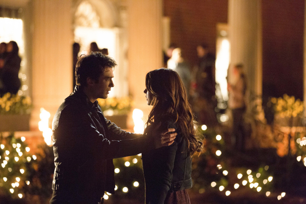 Ian Somerhalder as Damon and Nina Dobrev as Elena in The Vampire Diaries: 'The Devil Inside'