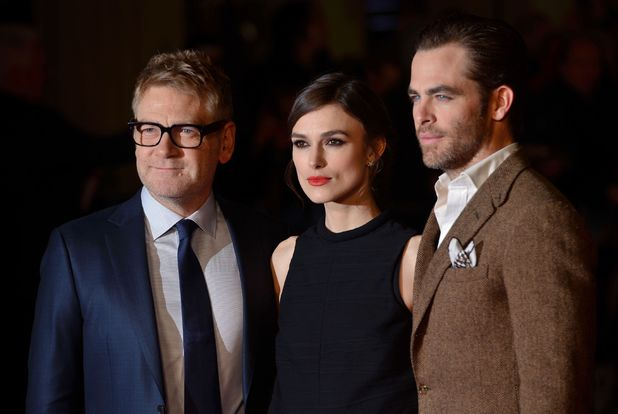 'Jack Ryan: Shadow Recruit' film premiere, London, Britain - 20 Jan 2014 Kenneth Brannagh, Kiera Knightley and Chris Pine
