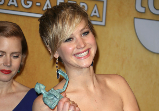 20th Annual Screen Actors Guild Awards, Press Room, Los Angeles, America - 18 Jan 2014Jennifer Lawrence 18 Jan 2014