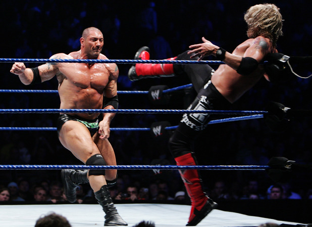 Dave Batista during the WWE Smackdown at Acer Arena