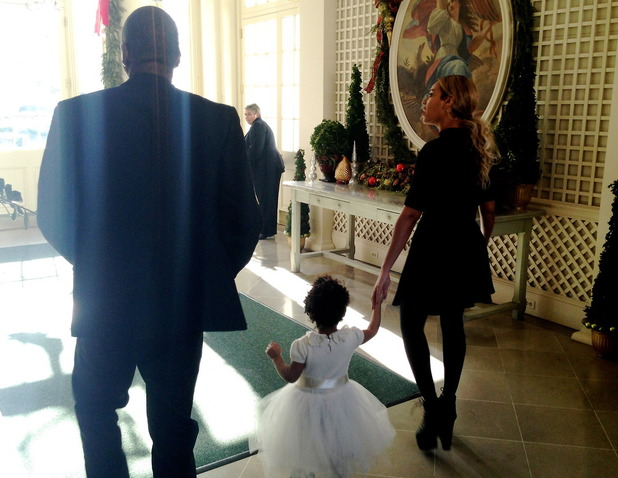 Beyoncé, Jay Z and Blue Ivy at the White House