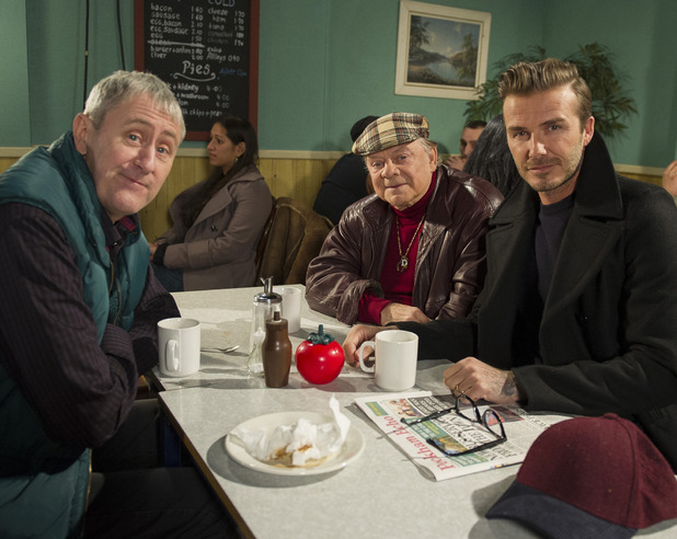 David Beckham joins Del Boy and Rodney for Sport Relief
