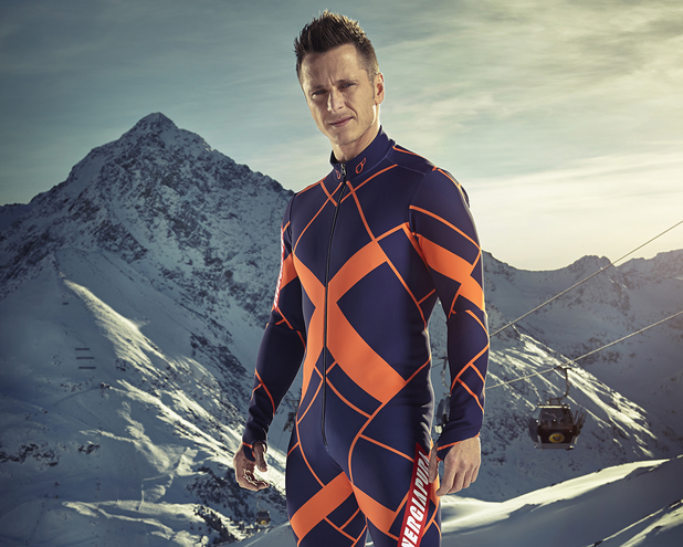 Ritchie Neville competes in The Jump