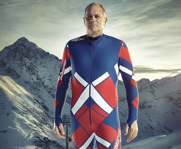Sir Steve Redgrave competes in The Jump