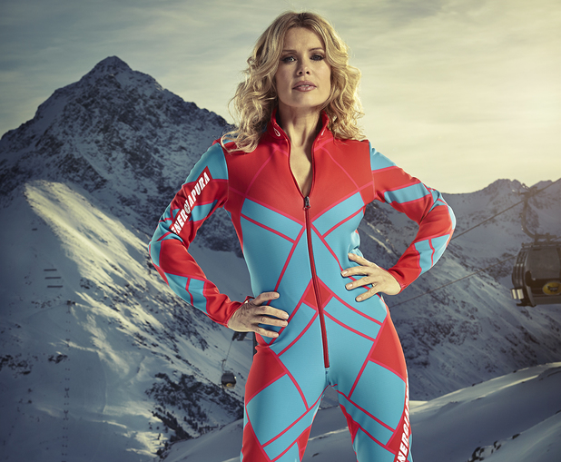 Melinda Messenger competes in The Jump