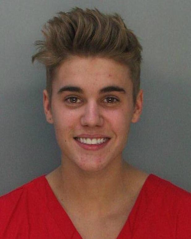 Justin Bieber mugshot released by Miami Beach Police Department