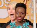 Saving Mr Banks star plays prank on Lupita Nyong'o on the SAG Awards red carpet.