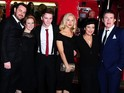 Danny Dyer, Jessie Wallace, Shane Richie arrive in true London style.
