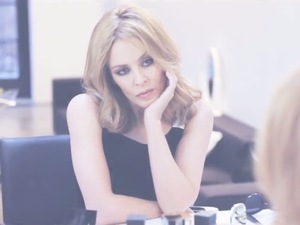 Kylie Minogue 'Into the Blue' lyric video still.