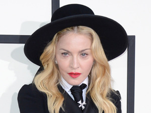 Madonna arrives at the 56th annual Grammy Awards