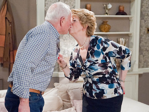 Diane and Eric end up sharing a kiss.