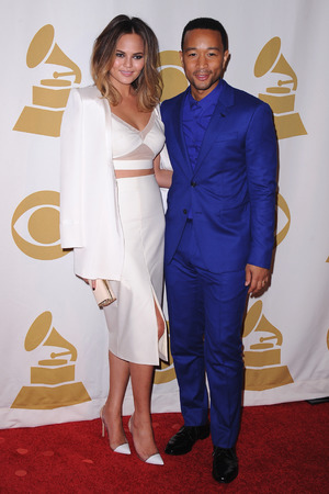 'The Night That Changed America: A Grammy Salute to the Beatles', Los Angeles, America - 27 Jan 2014 Christine Teigen and John Legend