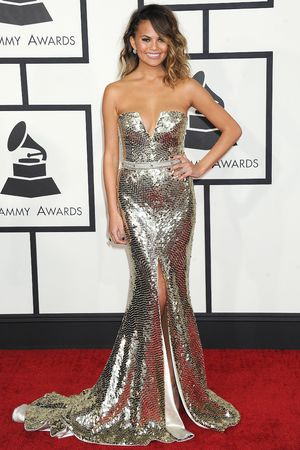 56th Annual Grammy Awards, Arrivals, Los Angeles, America - 26 Jan 2014 Christine Teigen 26 Jan 2014