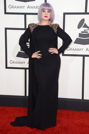 Kelly Osbourne arriving at the 56th annual Grammy Awards