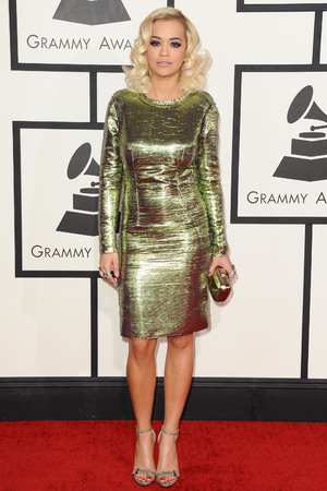 Rita Ora 56th Annual Grammy Awards, Arrivals, Los Angeles, America - 26 Jan 2014