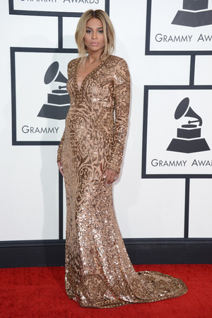 Ciara arriving at the 56th annual Grammy Awards