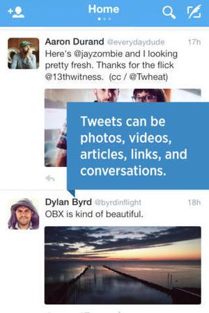 Twitter mobile app