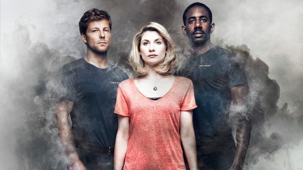 The cast of Sky1's 'The Smoke'.